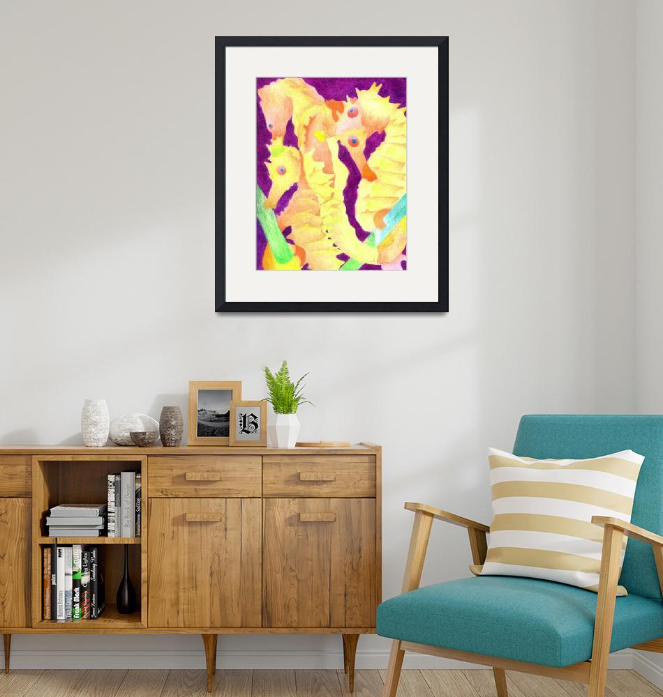 """""""Yellow Seahorses""""  (2009) by soltho"""