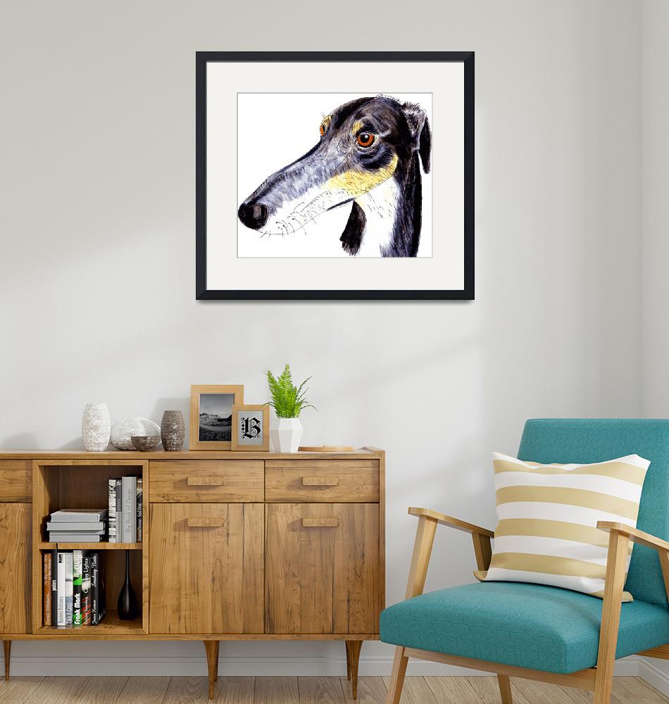"""Quirky greyhound lurcher""  (2014) by rayemond"