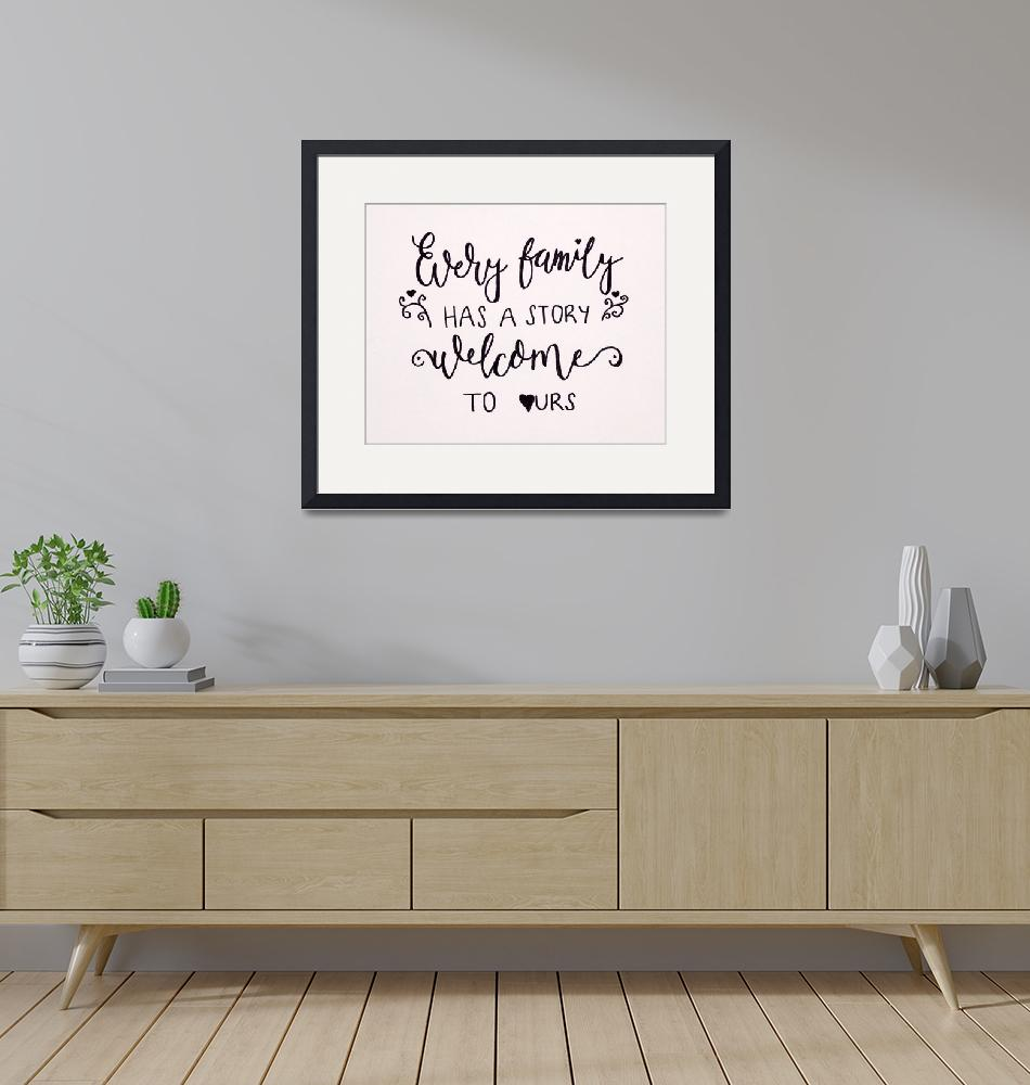 """""""Every family has a story welcome to ours hand Call""""  (2019) by visfineart"""