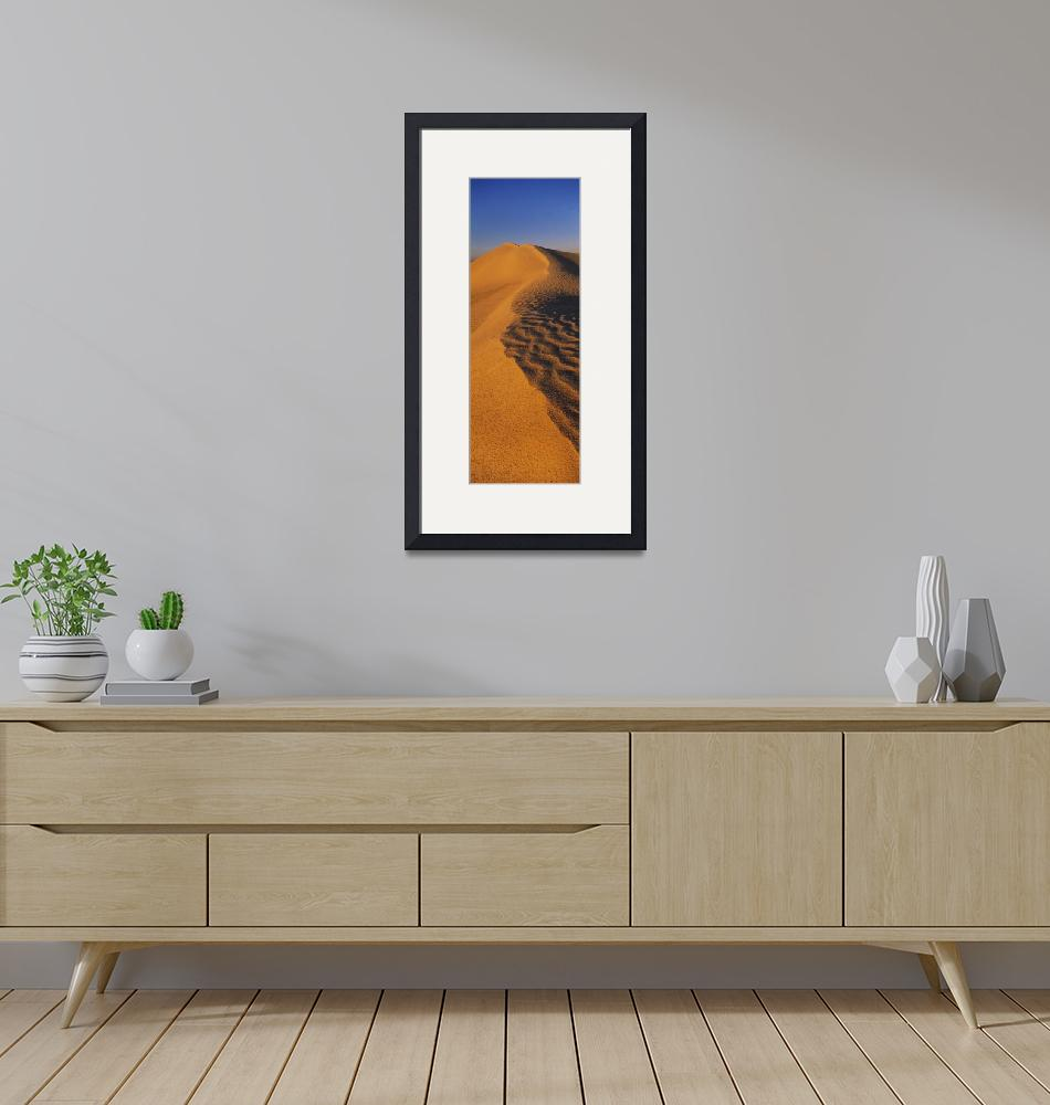 """""""Sand dunes in a desert""""  by Panoramic_Images"""