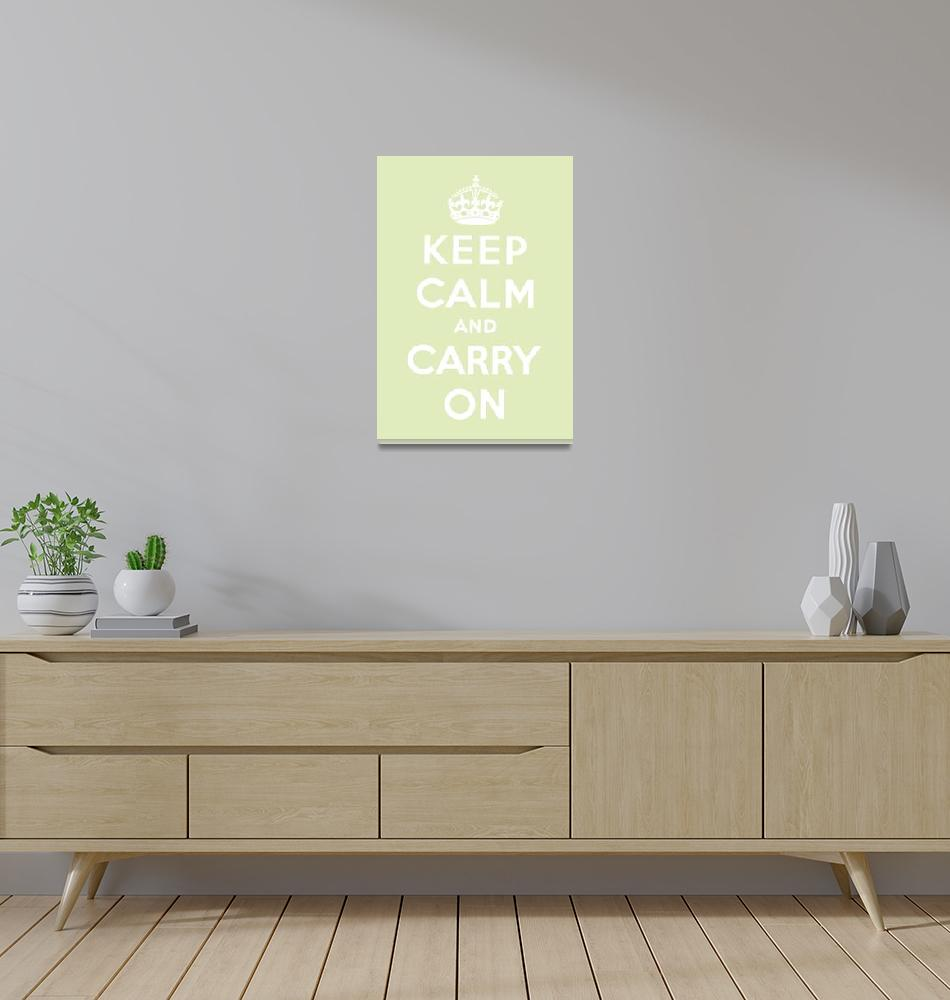 """Green Keep Calm And Carry On 7""  by oldies"