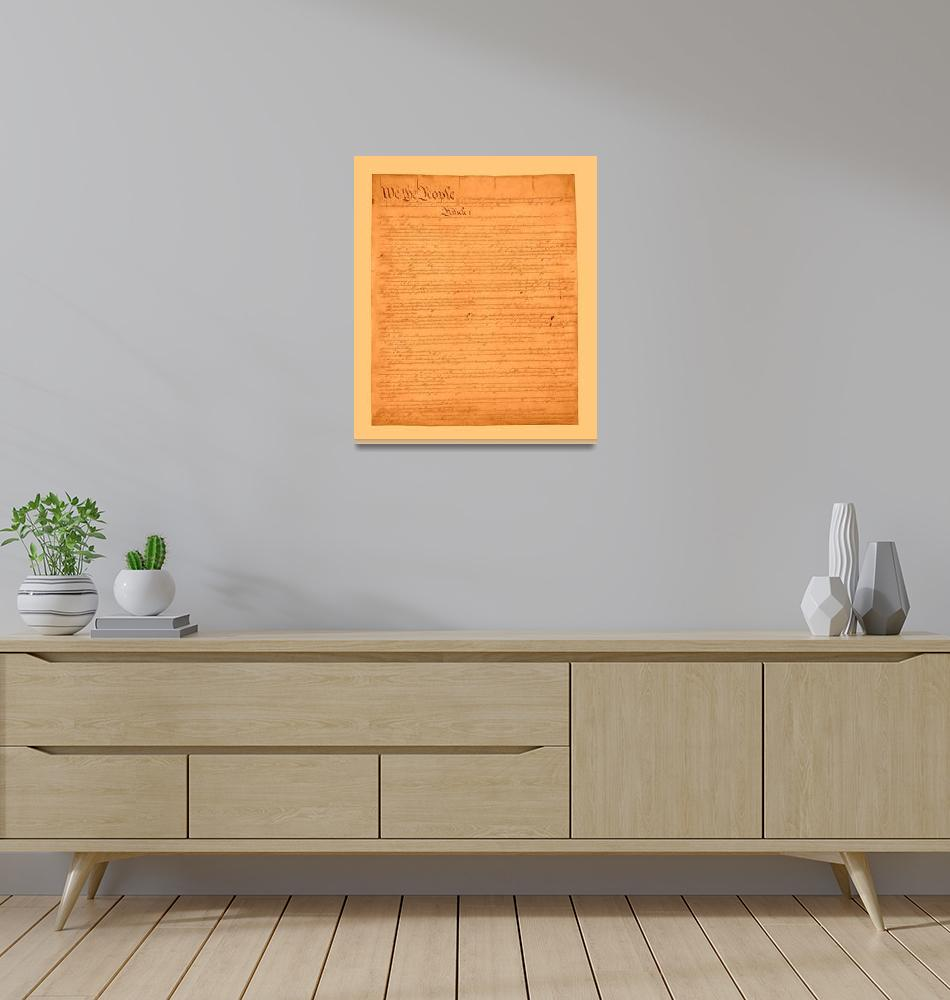 """""""Constitution United States aged light medium borde""""  (2013) by TheNorthernTerritory"""