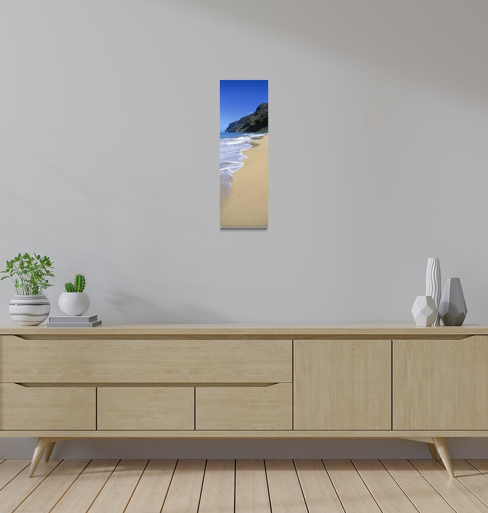 """Hawaii, Kauai, Polihale Beach Shoreline View With""  by DesignPics"