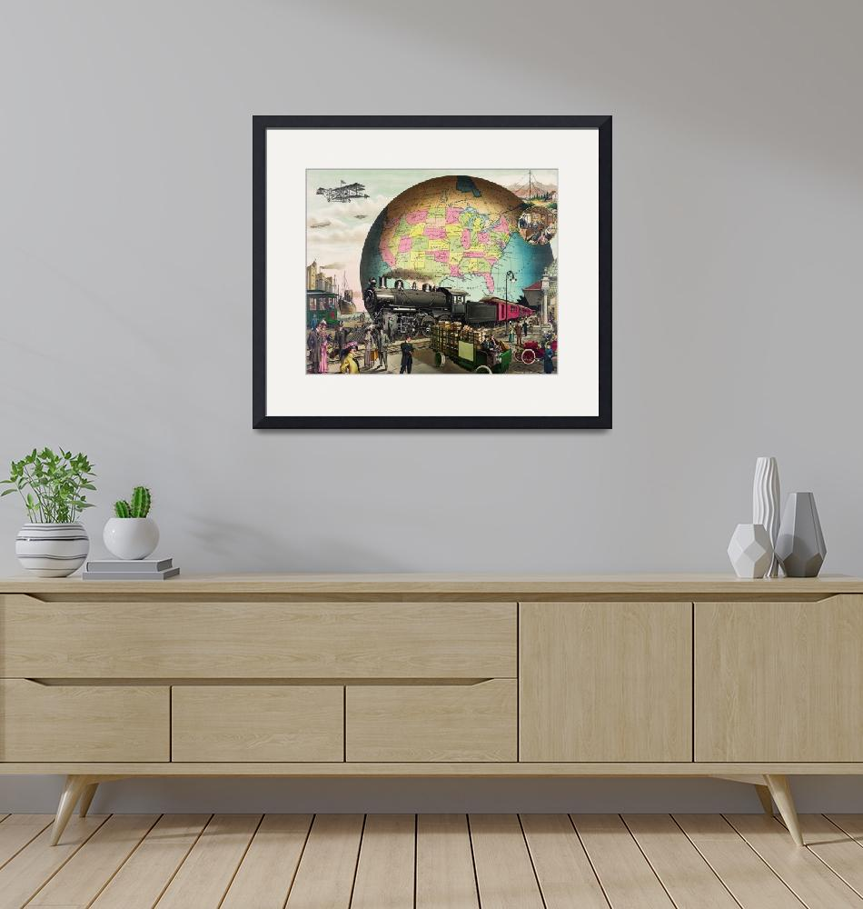 """""""20th Century Transportation by E.S. Yates"""" by FineArtClassics"""