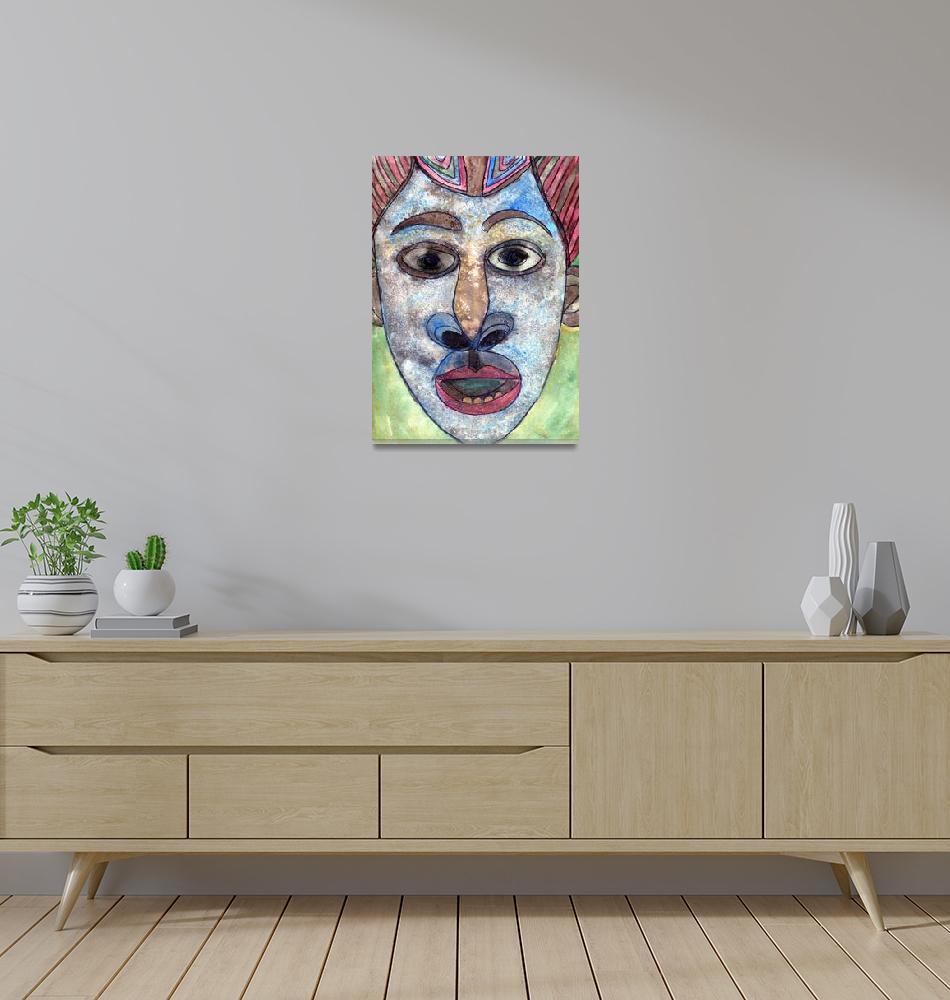 """""""Cameroon Mask, Tribal Art""""  (2012) by schulmanart"""