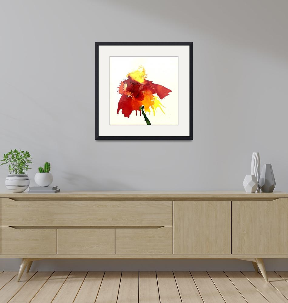 """""""Abstract Contemporary Floral Art Painting""""  by AngelaKellyArt"""