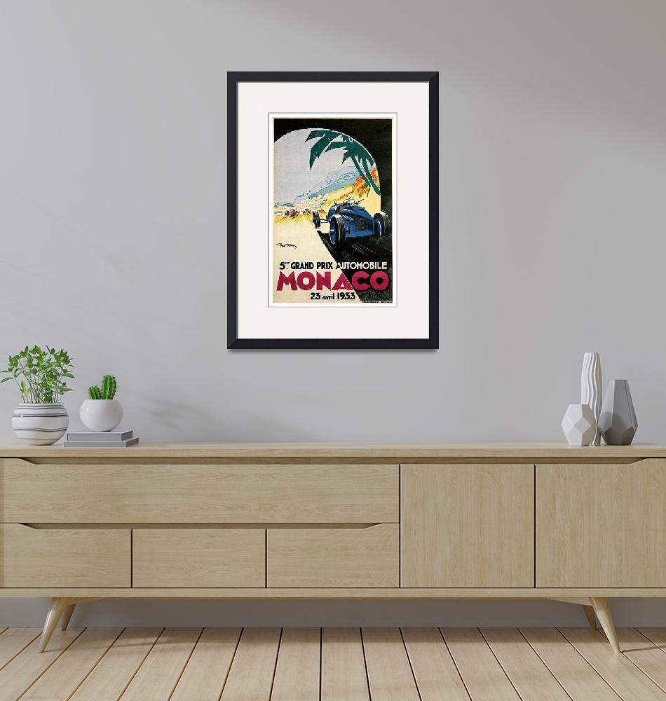 """Vintage Monaco Racing Grand Prix""  by PDGraphics"