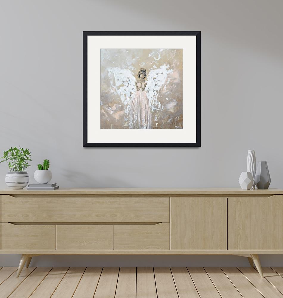 """""""You Are Cherished - Angel Painting""""  by ChristineBell"""