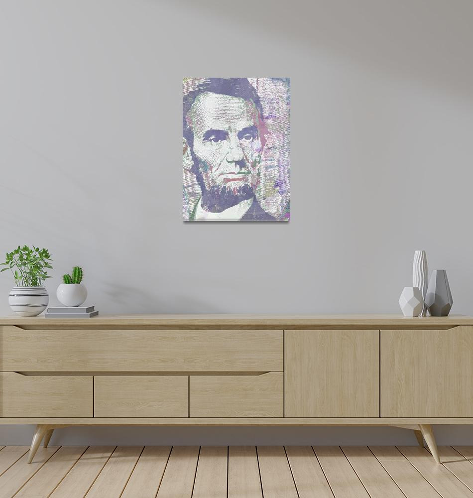 """""""Lincoln Reimagined Vertical""""  by RubinoFineArt"""