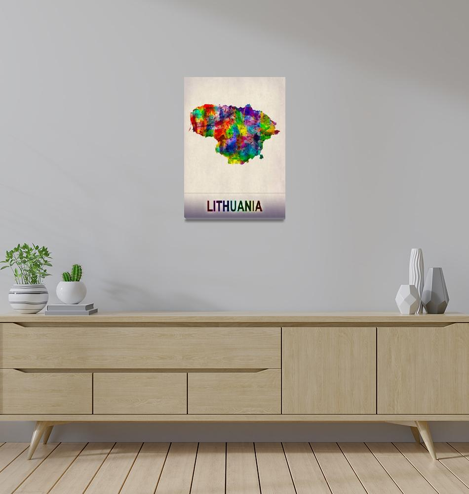 """""""Lithuania Map""""  by Towseef"""
