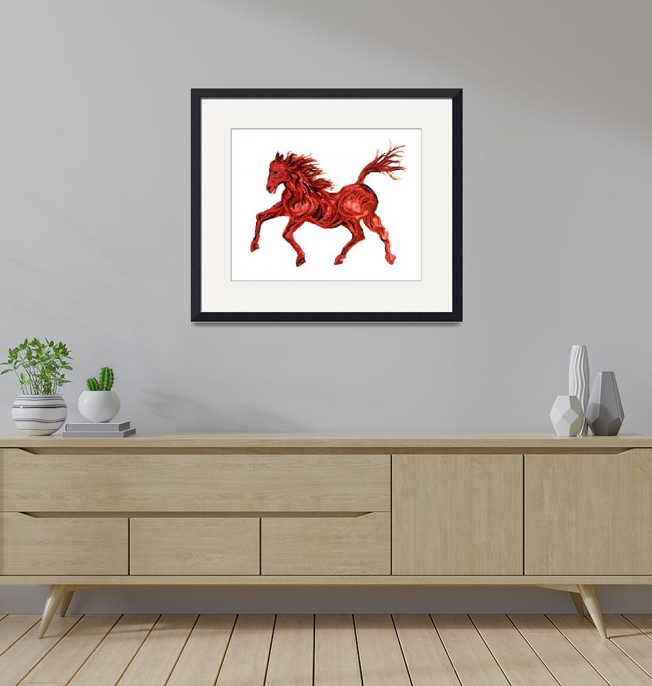 """Red Horse""  (2012) by paulhood"