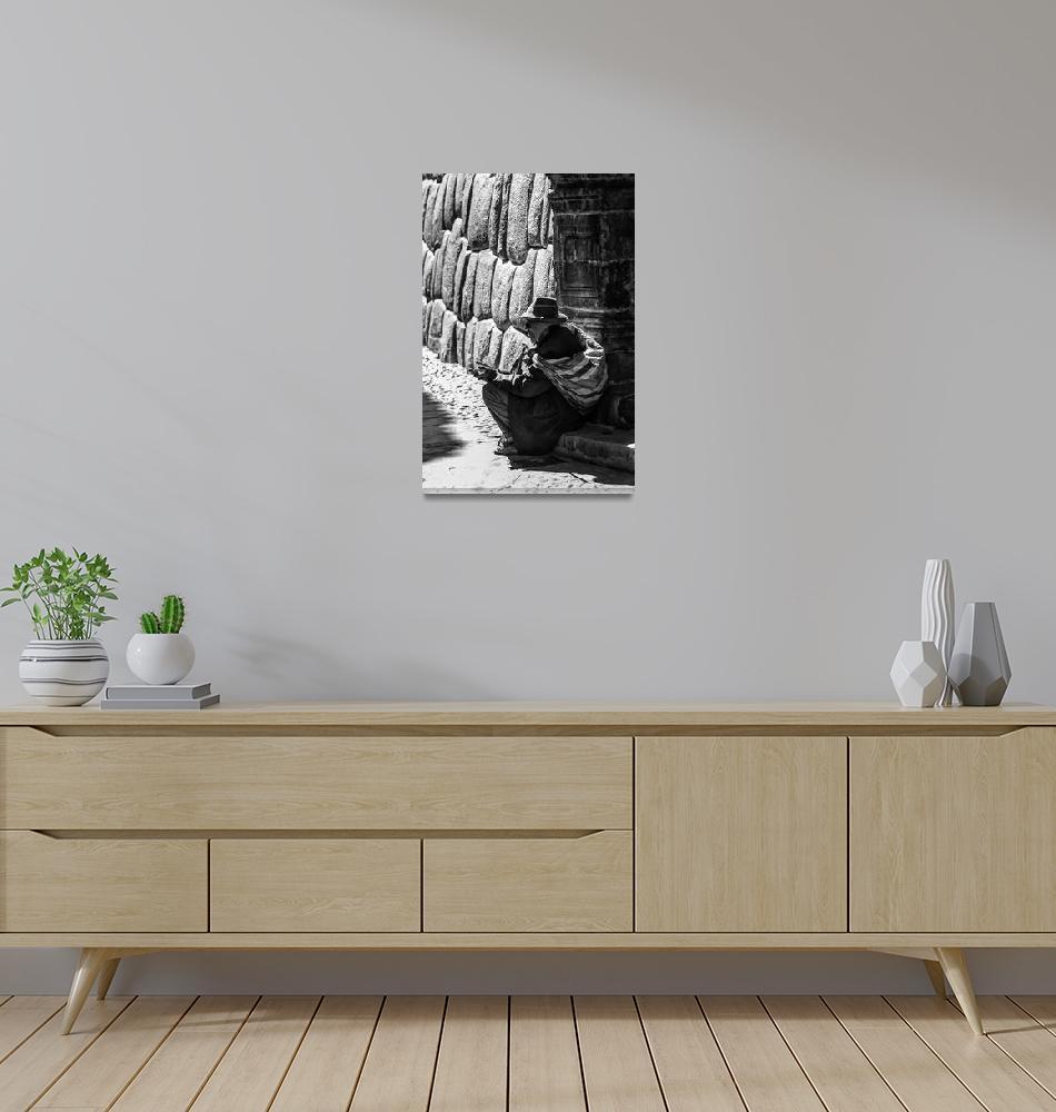"""Elderly Inca Man""  (2011) by mjphoto-graphics"