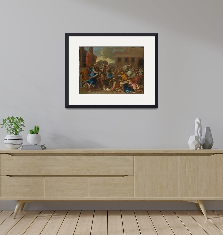 """""""Nicolas Poussin~The Abduction of the Sabine Women"""" by Old_master"""