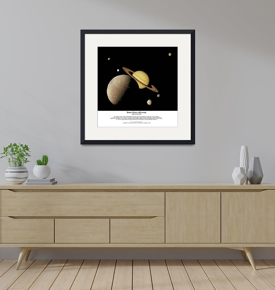 """""""Saturn System Montage 36in""""  by SouthIdahoPhoto"""