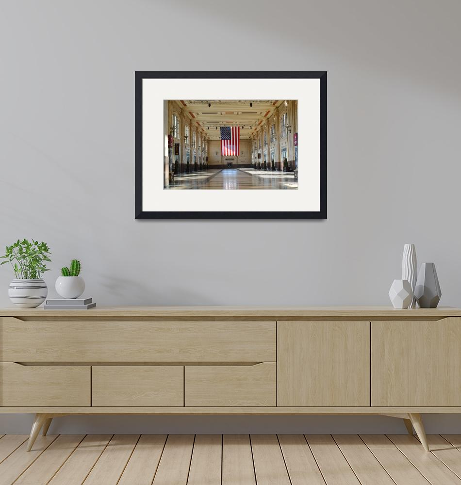 """""""Union Station and US Flag_1-173""""  (2020) by TaylorMadeArtUS"""