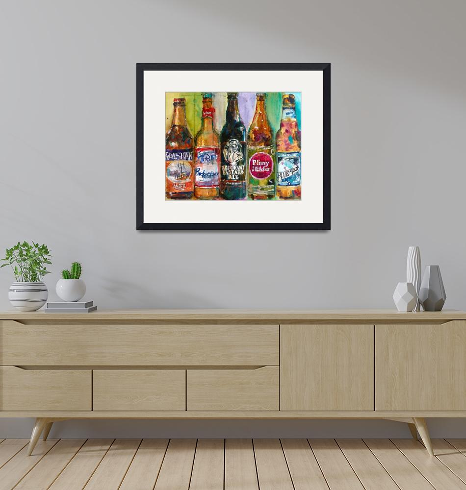 """Alaskan - Budweiser - Arrogant - Pliny - Blue Moon""  (2015) by dfrdesign"