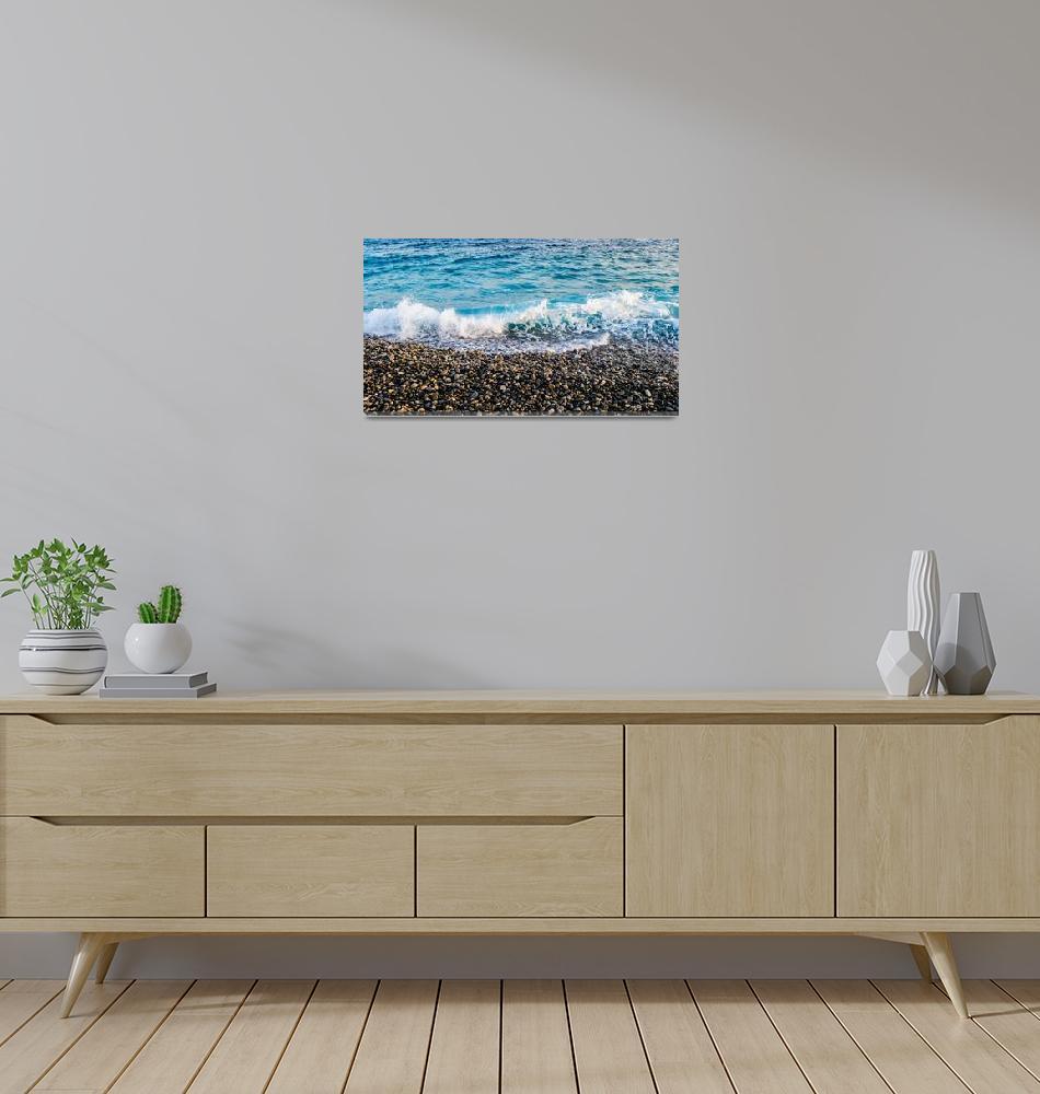 """""""Shoreline in Nice, France""""  (2014) by Mindset_Designs"""