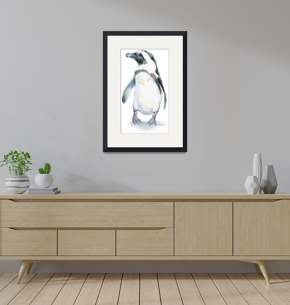 """""""Penguin with Personality"""" (2015) by LisaMclaughlin"""