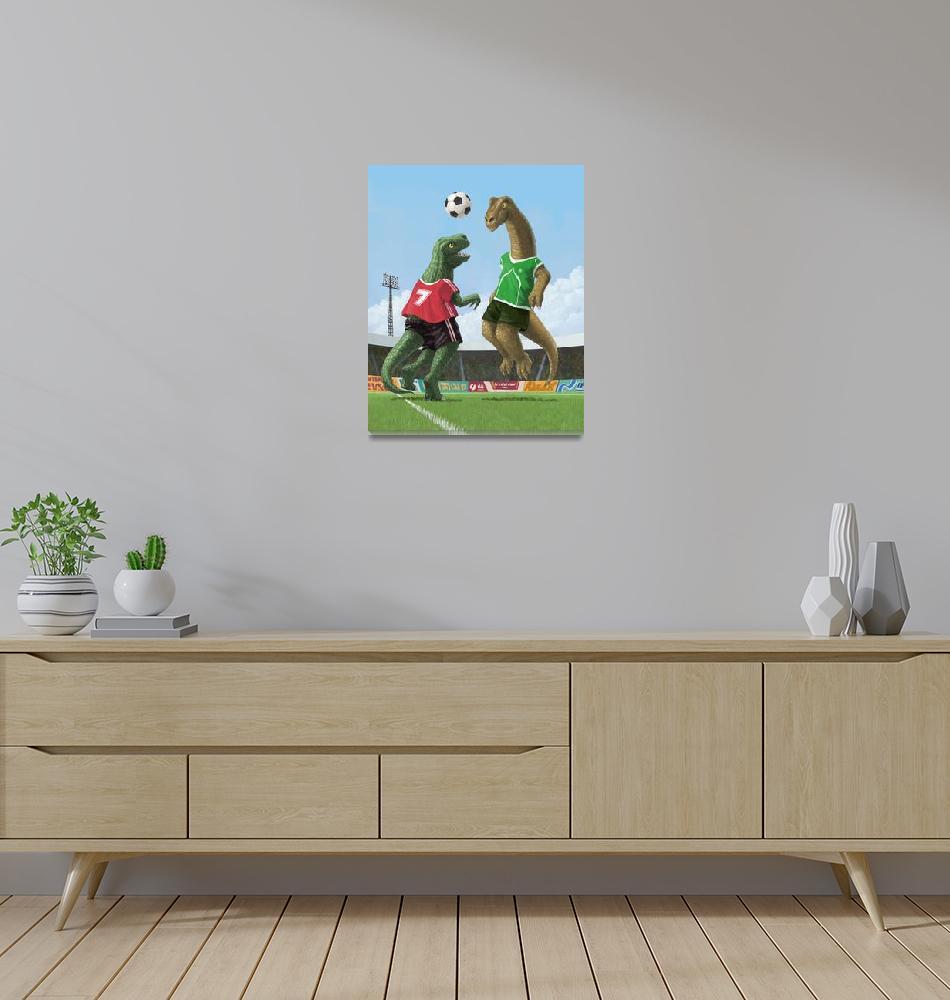 """dinosaur football sport game""  (2010) by martindavey"