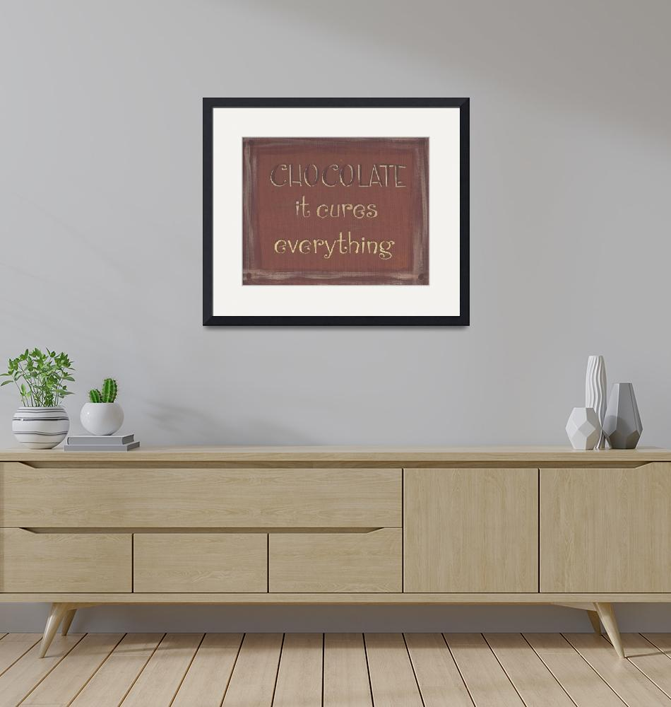 """""""Chocolate Sign (Light Brown)""""  (2013) by PjCreates"""