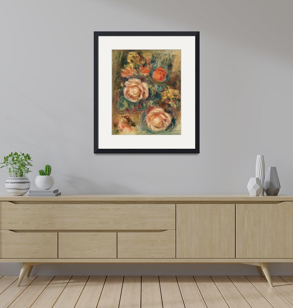"""""""A Bouquet of Roses by Renoir""""  by FineArtClassics"""