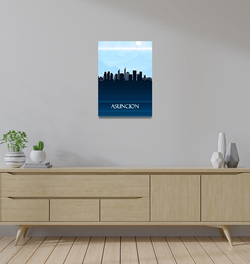 """""""Asuncion City Skyline""""  by Towseef"""