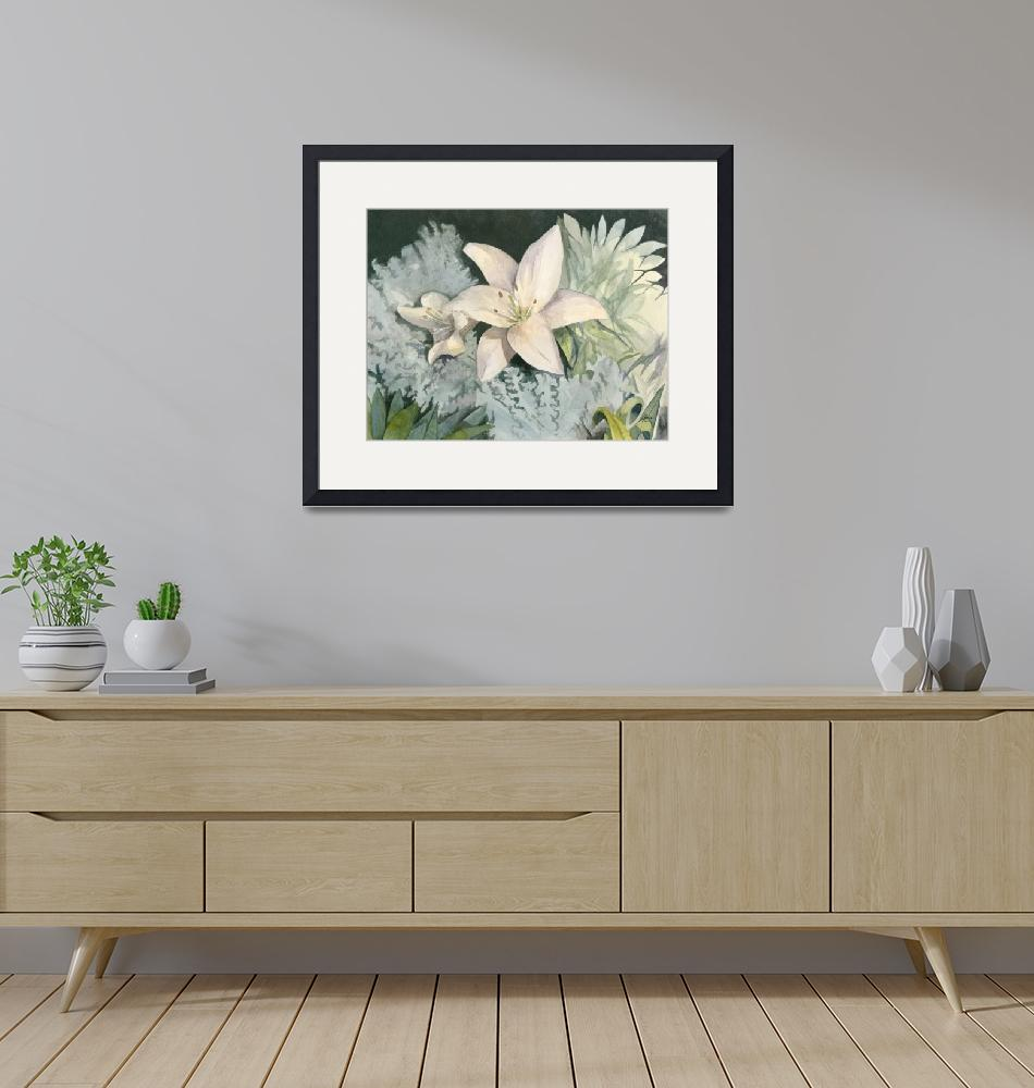 """""""Lillies In The Moonlight""""  (2007) by JeffMoserArt"""