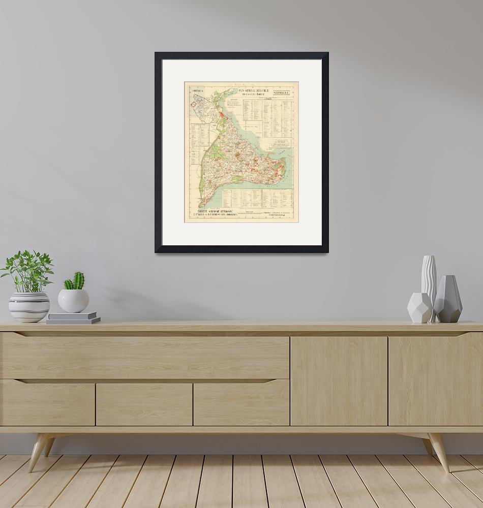 """""""Vintage Istanbul & Constatinople Map (1922)""""  by Alleycatshirts"""