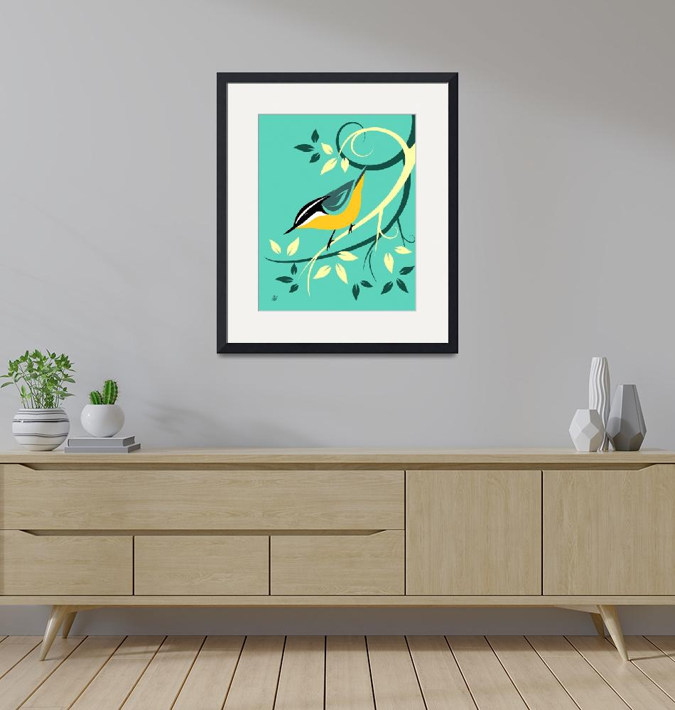 """""""Decorative Red Breasted Nuthatch Art""""  by waterart"""