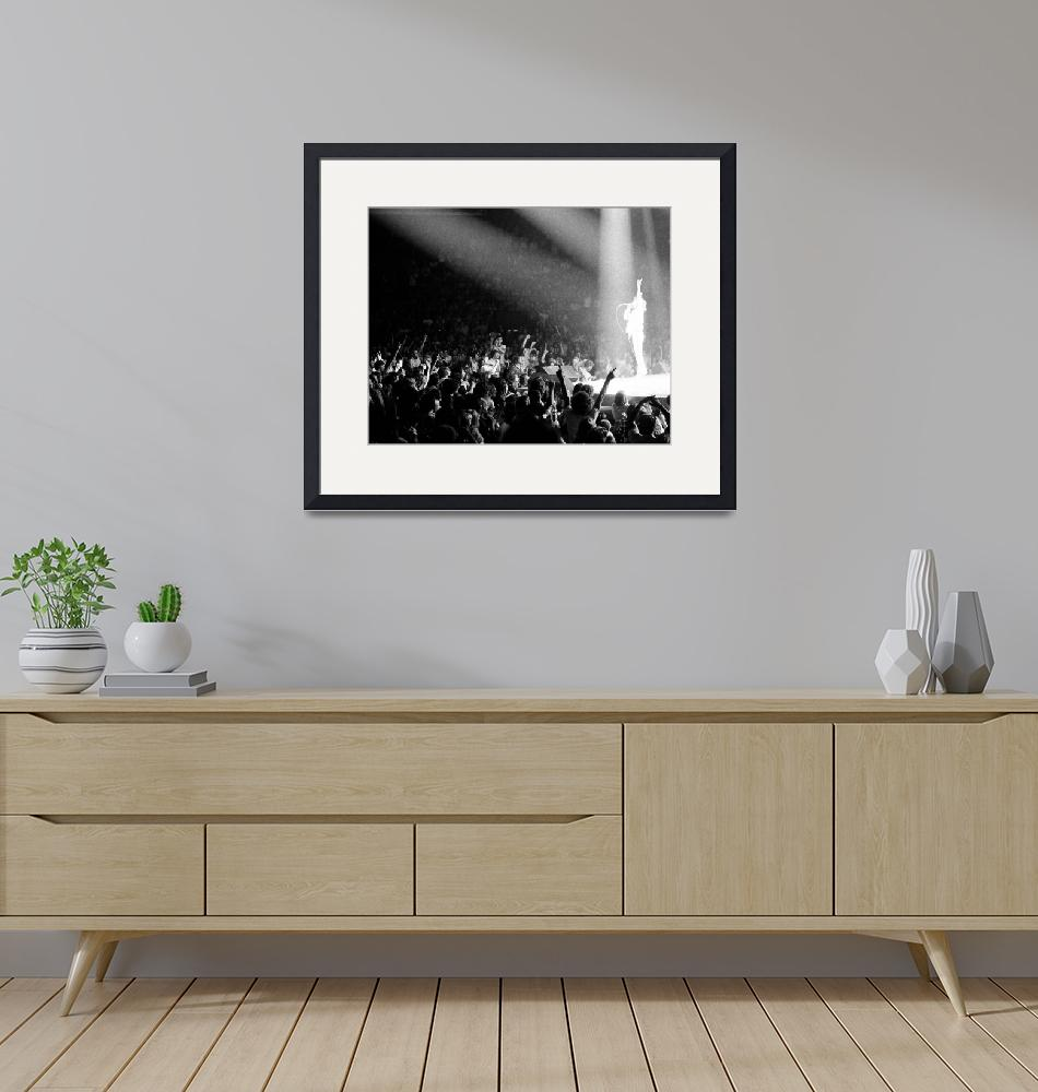 """""""Mick Jagger at a concert"""" by RetroImagesArchive"""