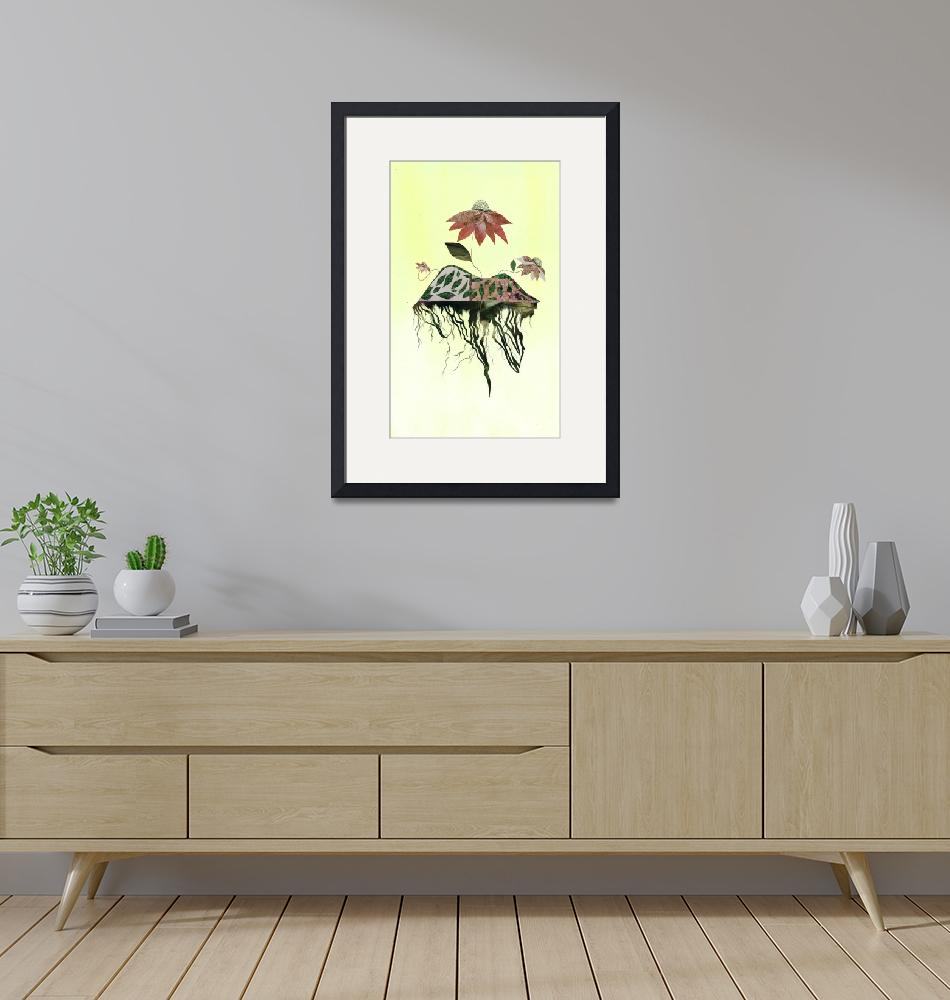 """""""Uprooted Flowers""""  (2012) by pirateforpeaceprints"""