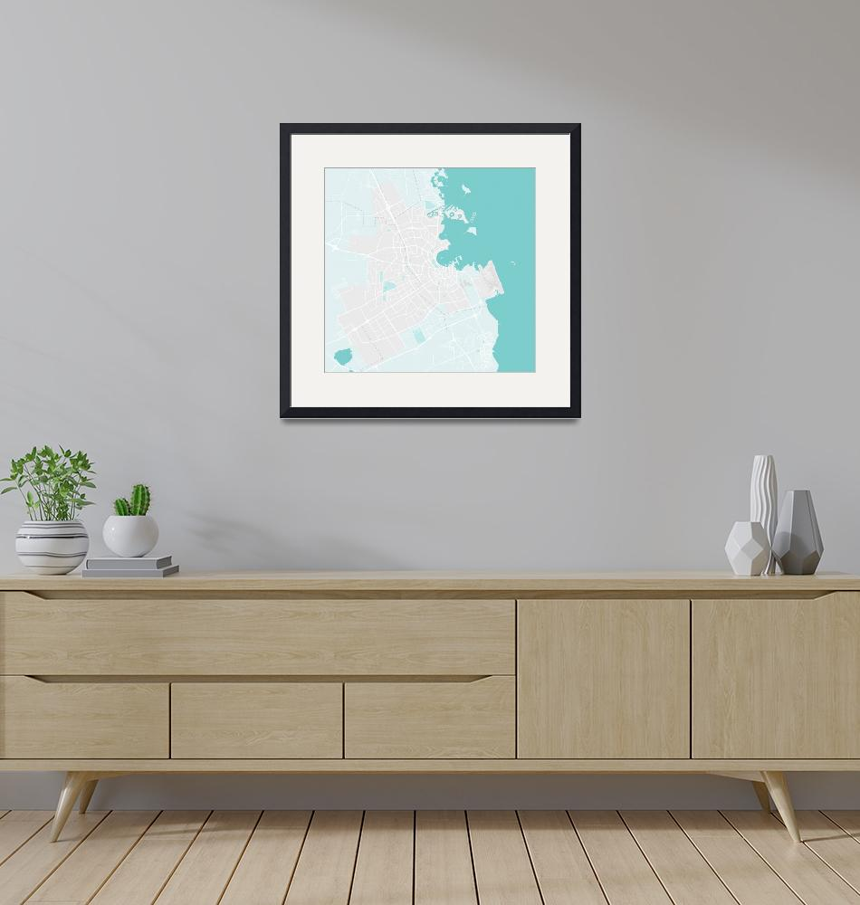 """Minimalist Modern Map of Doha, Qatar 4""  by motionage"