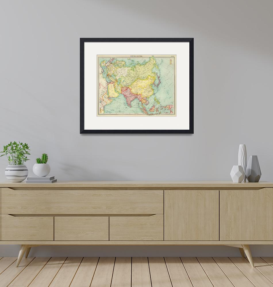 """Vintage Map of Asia (1922)""  by Alleycatshirts"
