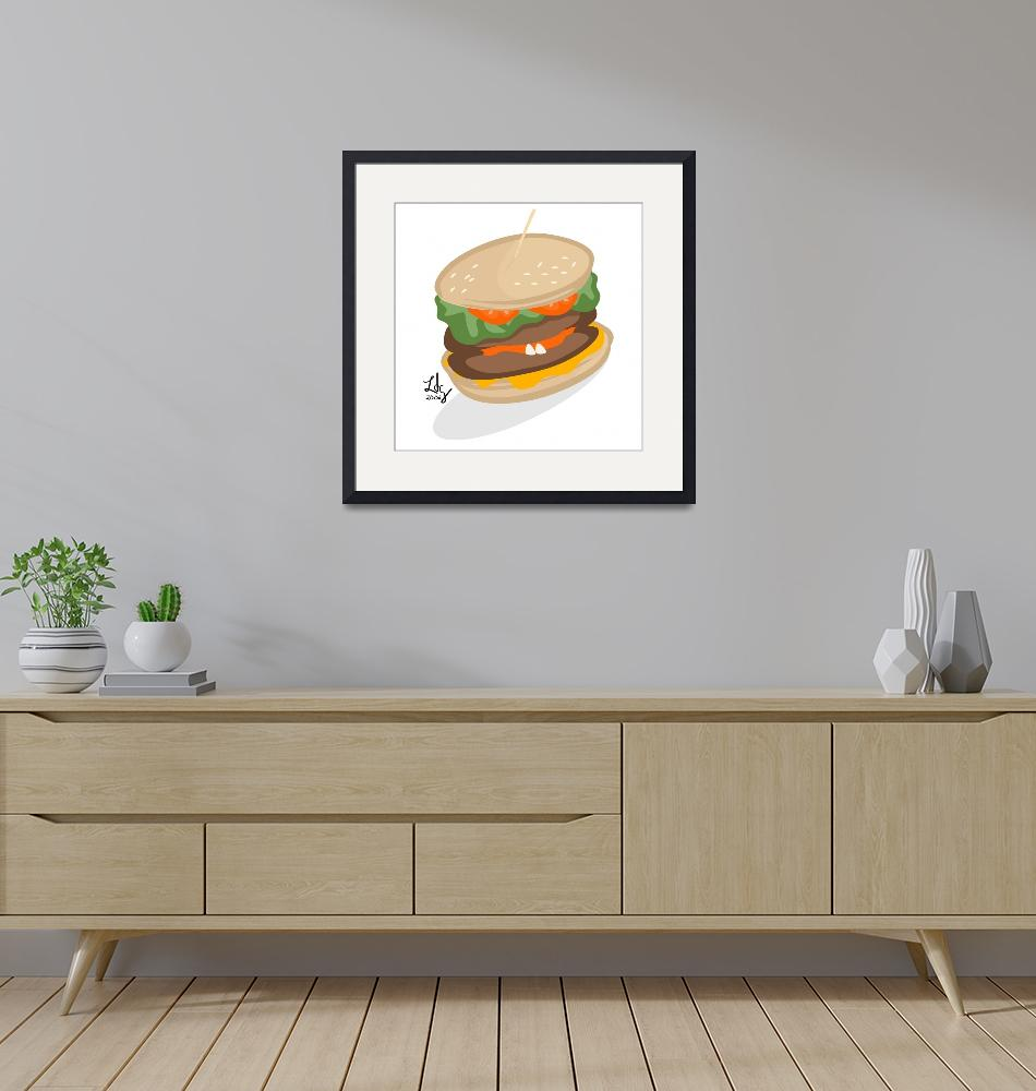 """Burger""  (2007) by elledeegee"