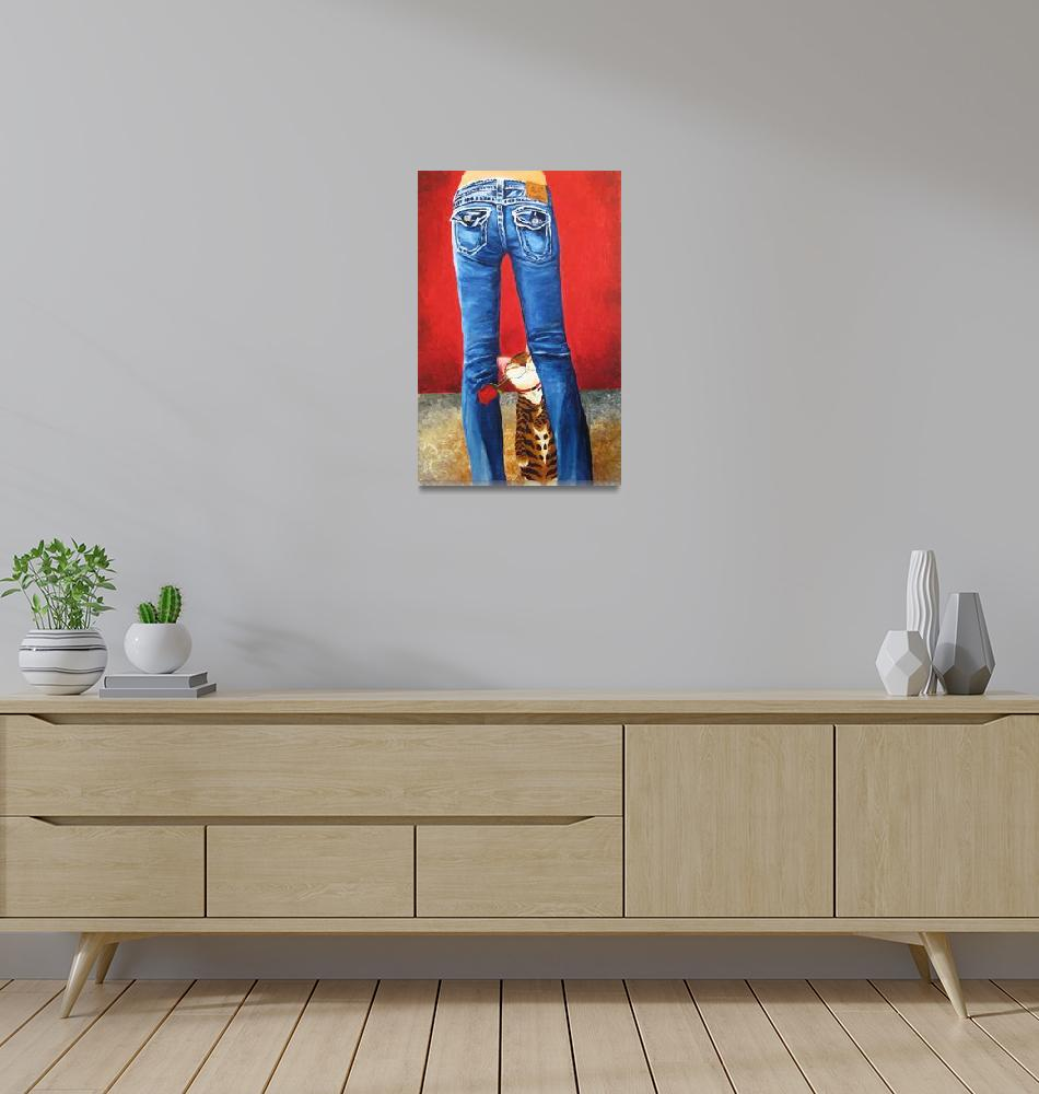 """""""cat-art-Blue Jeans""""  (2008) by catmasutra"""