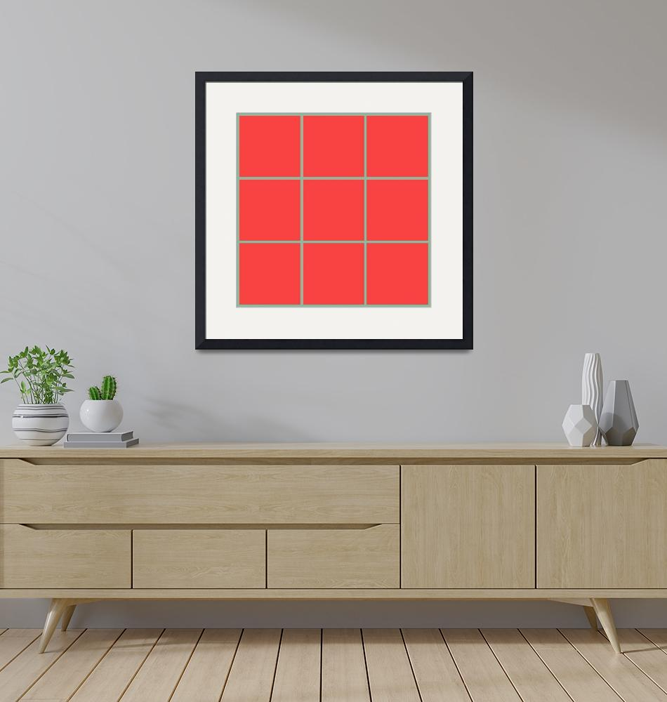 """""""Red Window 129 Canvas Contemporary Modern""""  (2010) by Ricardos"""