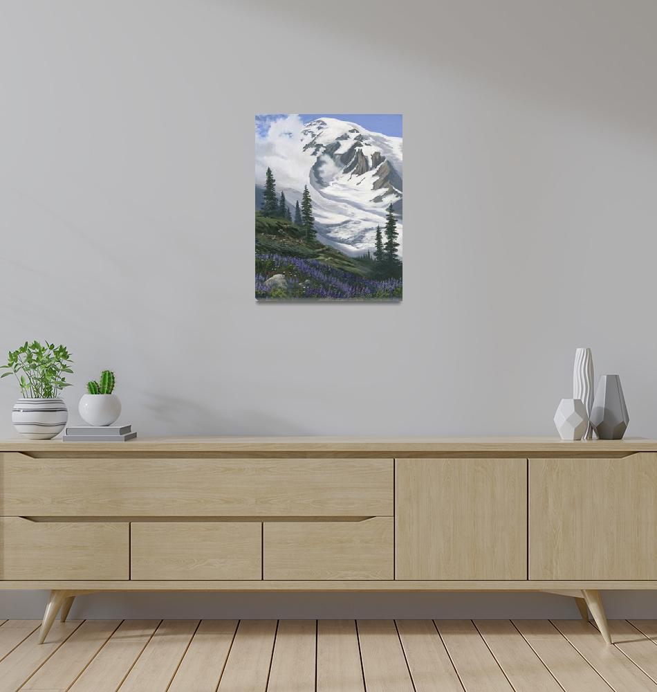 """Mount Rainier Paradise""  (2001) by Dullinger"