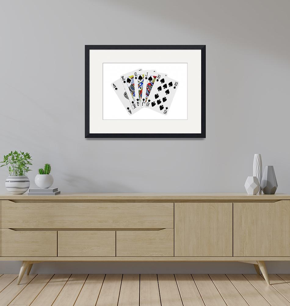 """""""Playing Cards Royal Flush on White Background""""  (2012) by NatalieKinnear"""