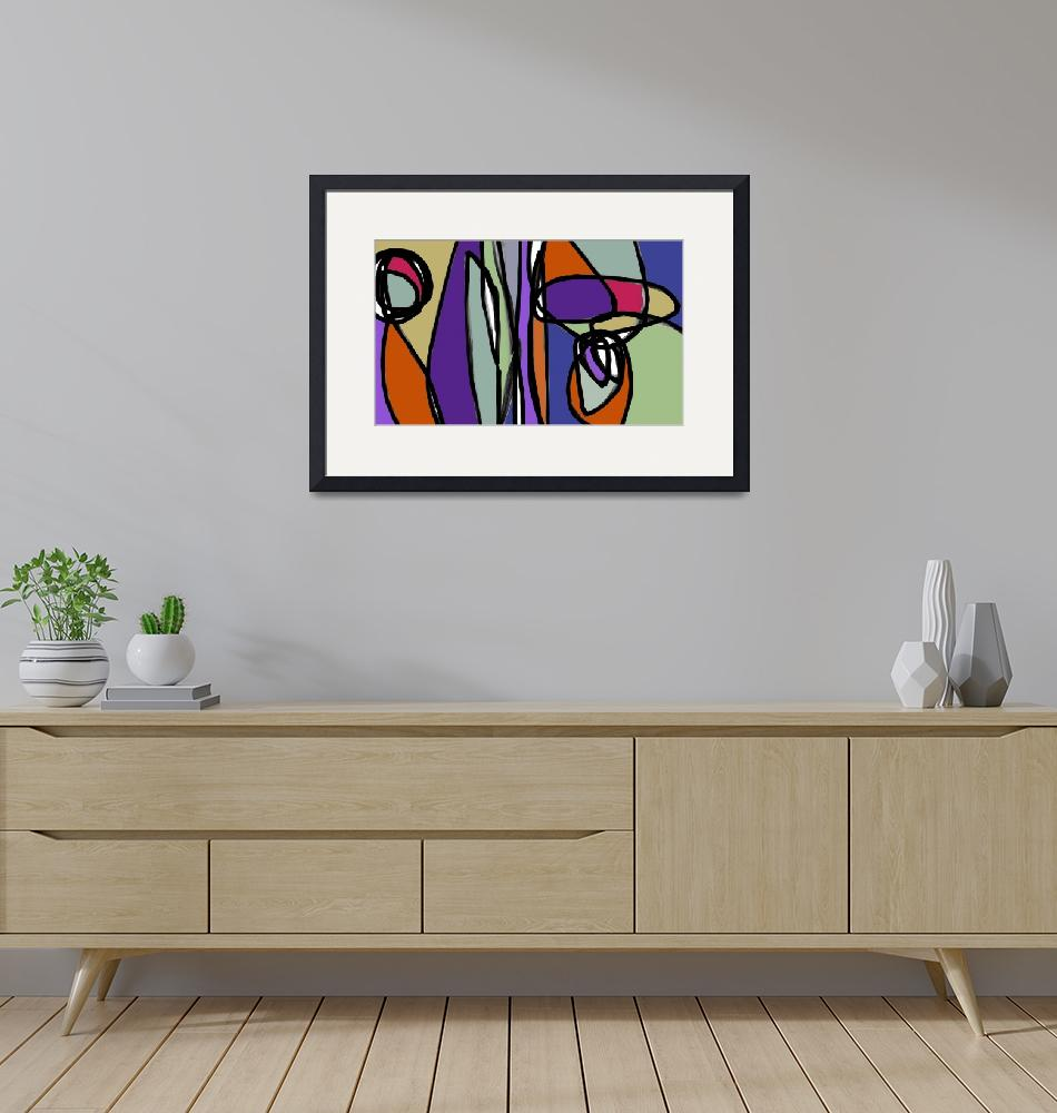 """""""ORL-6880-2 Vibrant Colorful Abstract-0-54-2""""  by Aneri"""