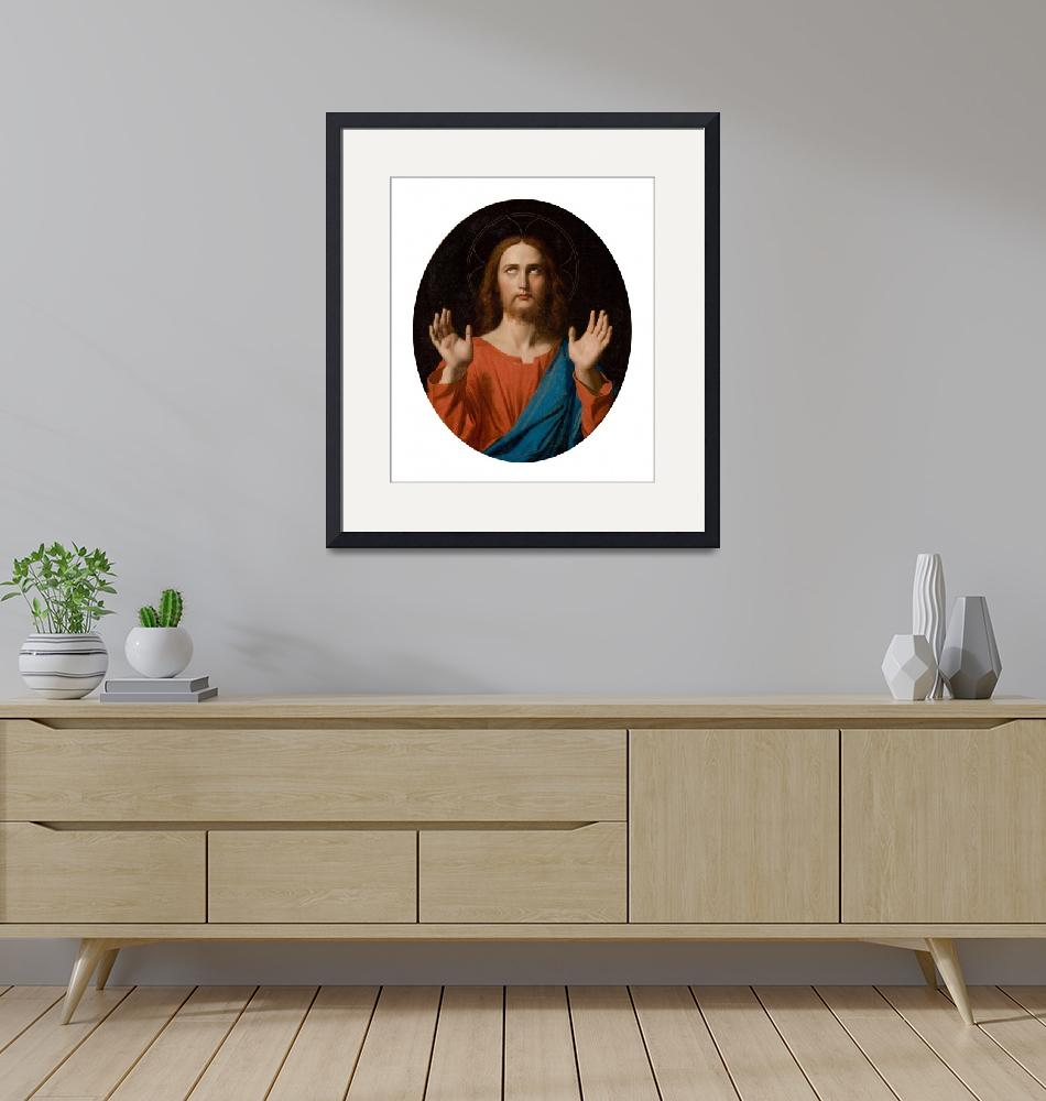 """""""Jean-Auguste-Dominique Ingres~The Blessing Christ""""  by Old_master"""