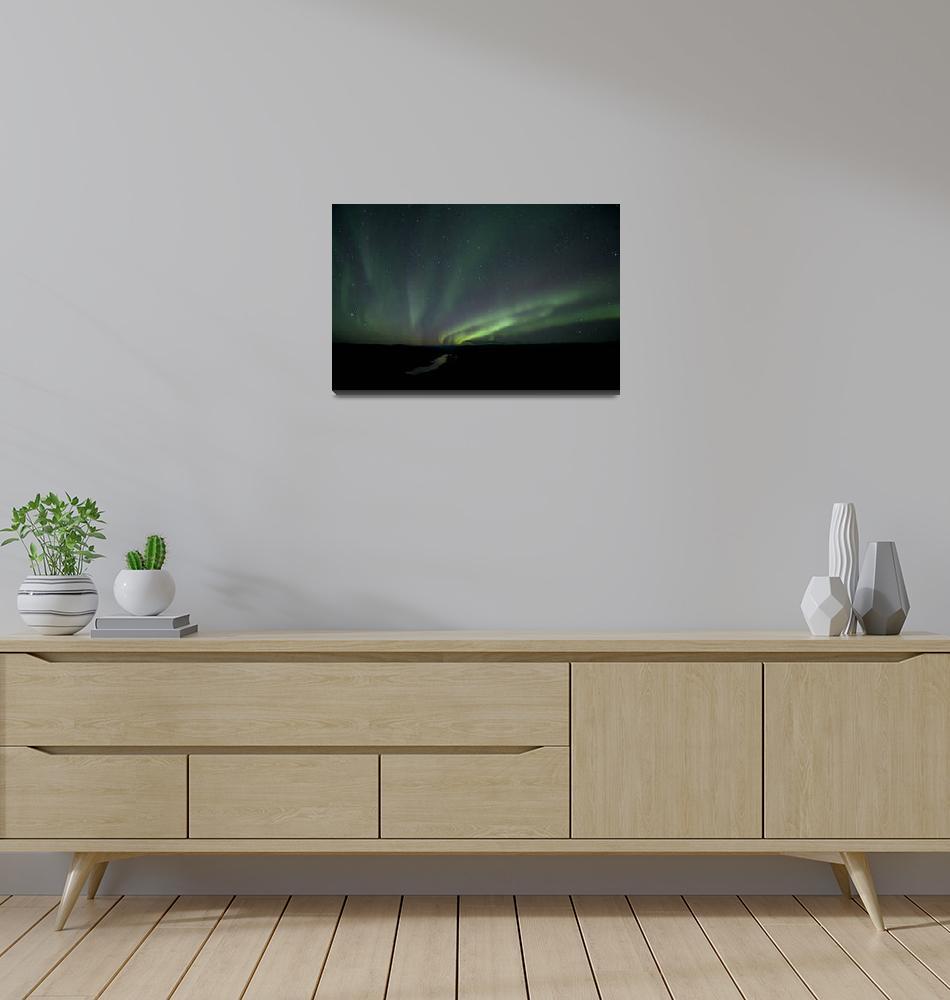 """Northern lights illuminate the Yukon River""  by Piri"
