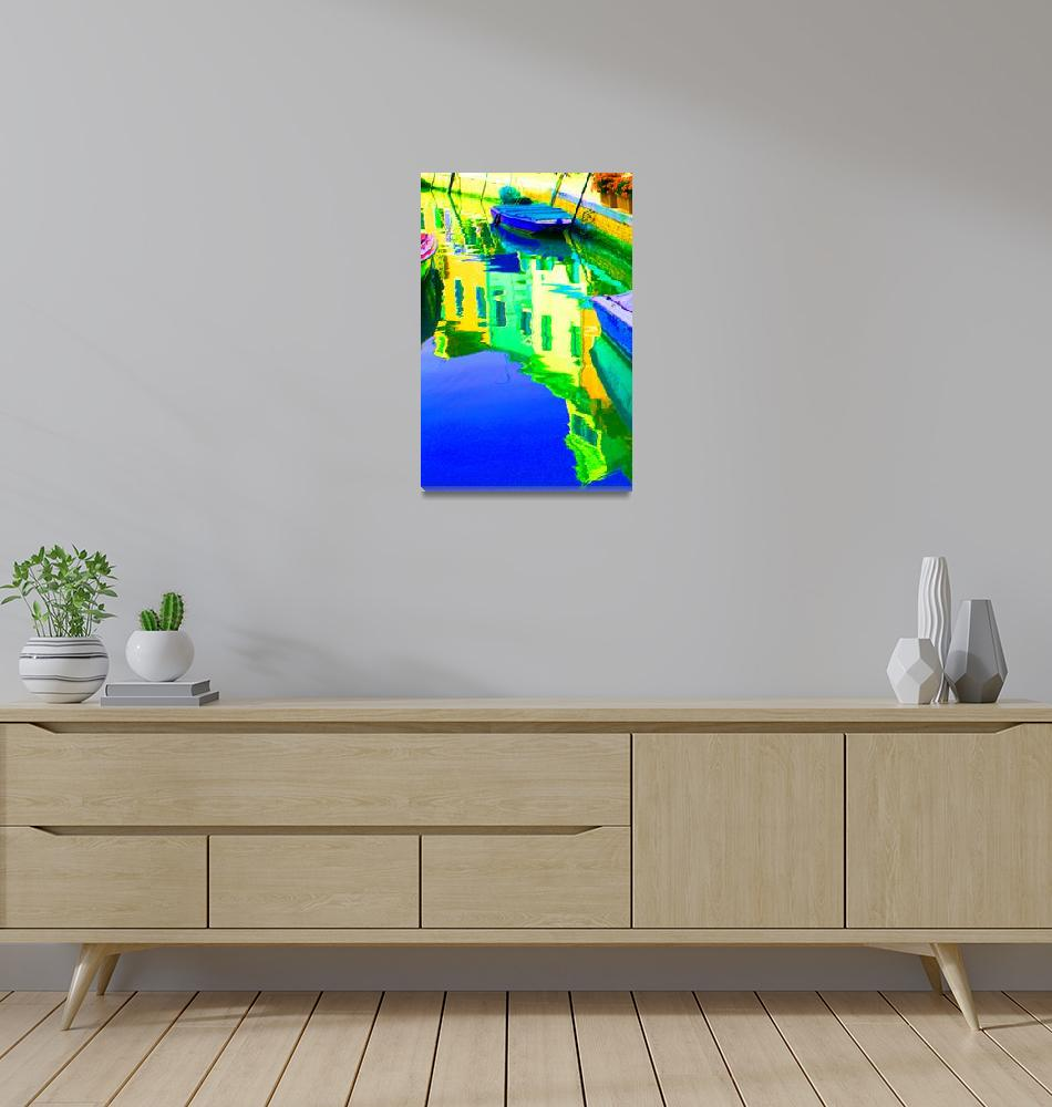 """""""Yellow and Green Reflections""""  (2007) by DonnaCorless"""