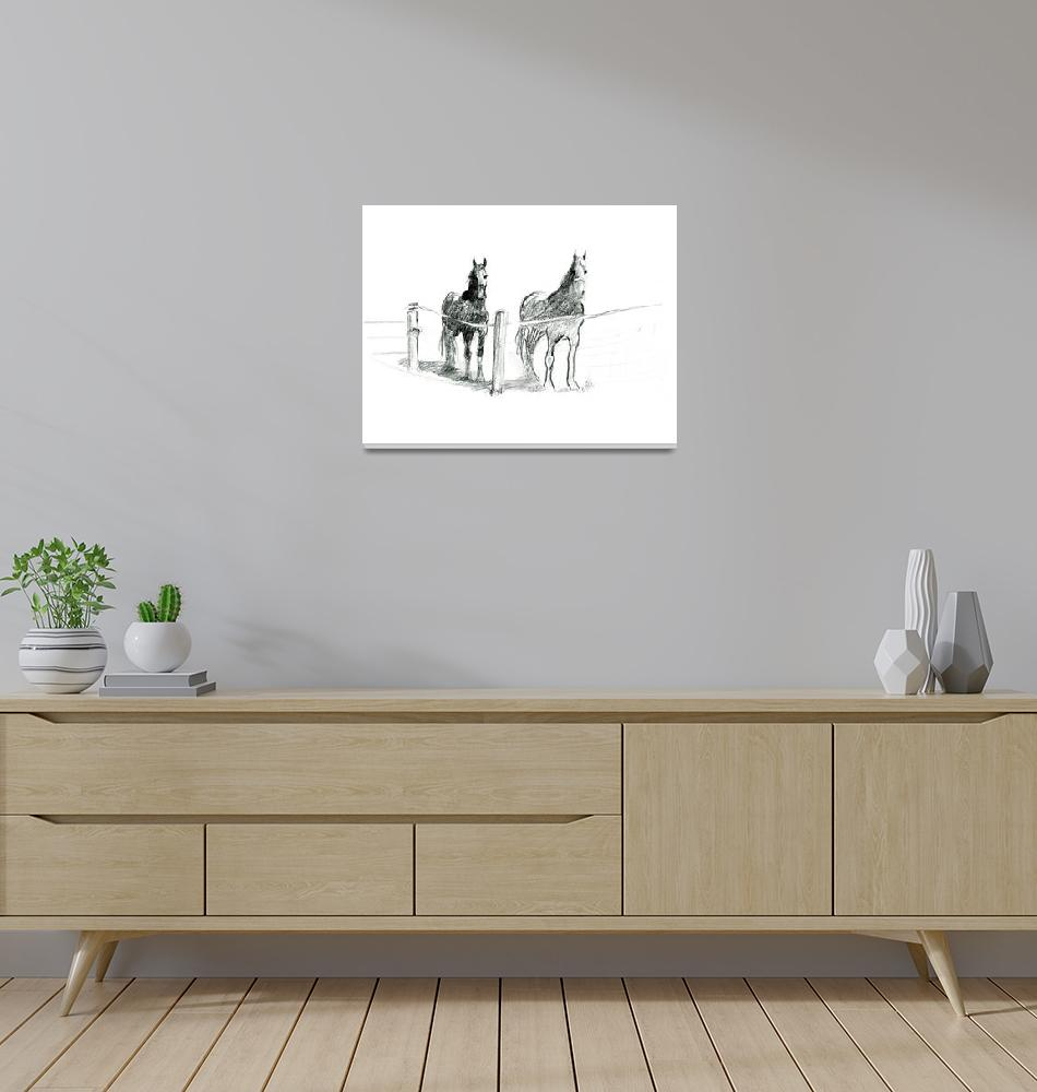 """Friesian Horses""  (2015) by abbymcbride"