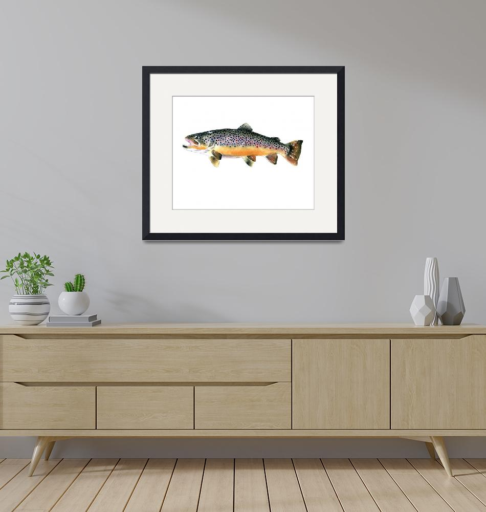 """""""Brown Trout 2""""  (2015) by k9artgallery"""