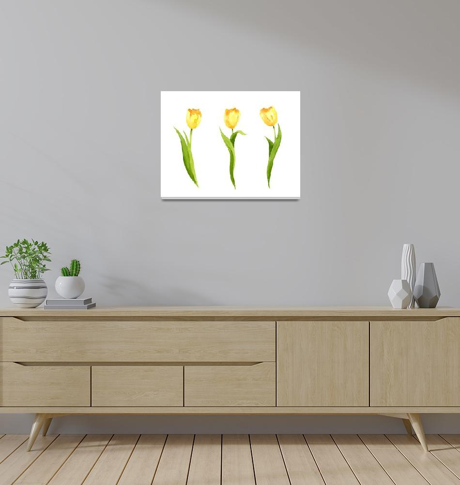 """Yellow Tulips""  (2017) by k9artgallery"