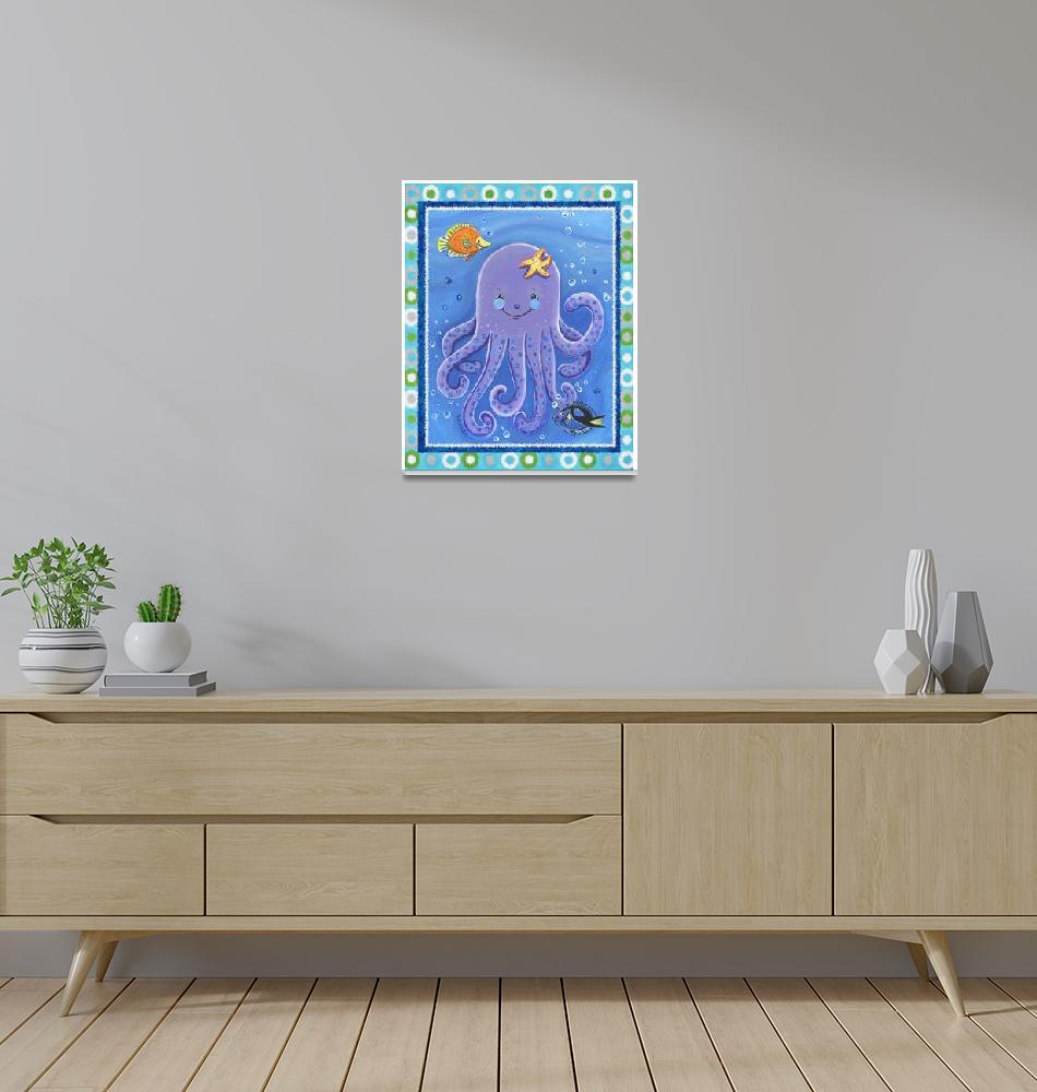 """""""Purple Octopus (with border)""""  (2008) by Littlepig"""