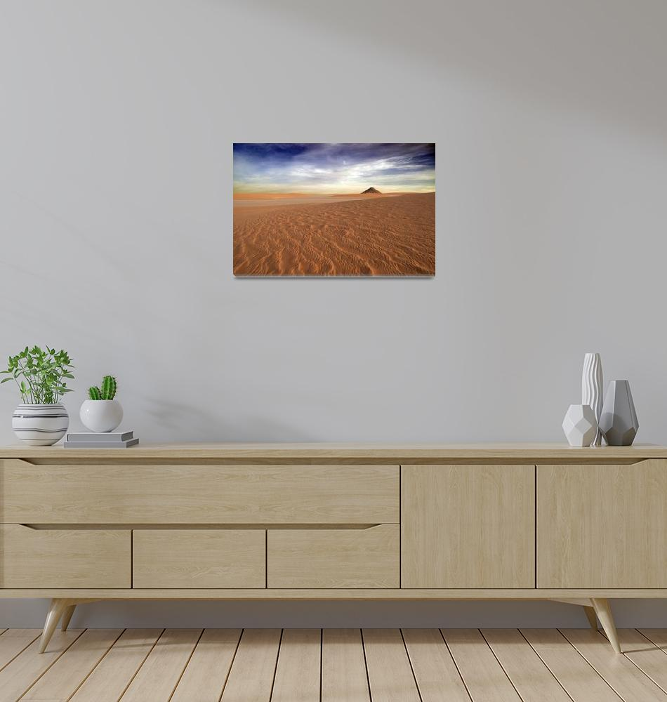"""Sahara Volcano - Desert Photography""  (2009) by johnzada"