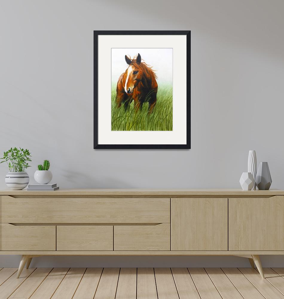 """""""Horse in the Wind""""  (2009) by MariaHathaway"""