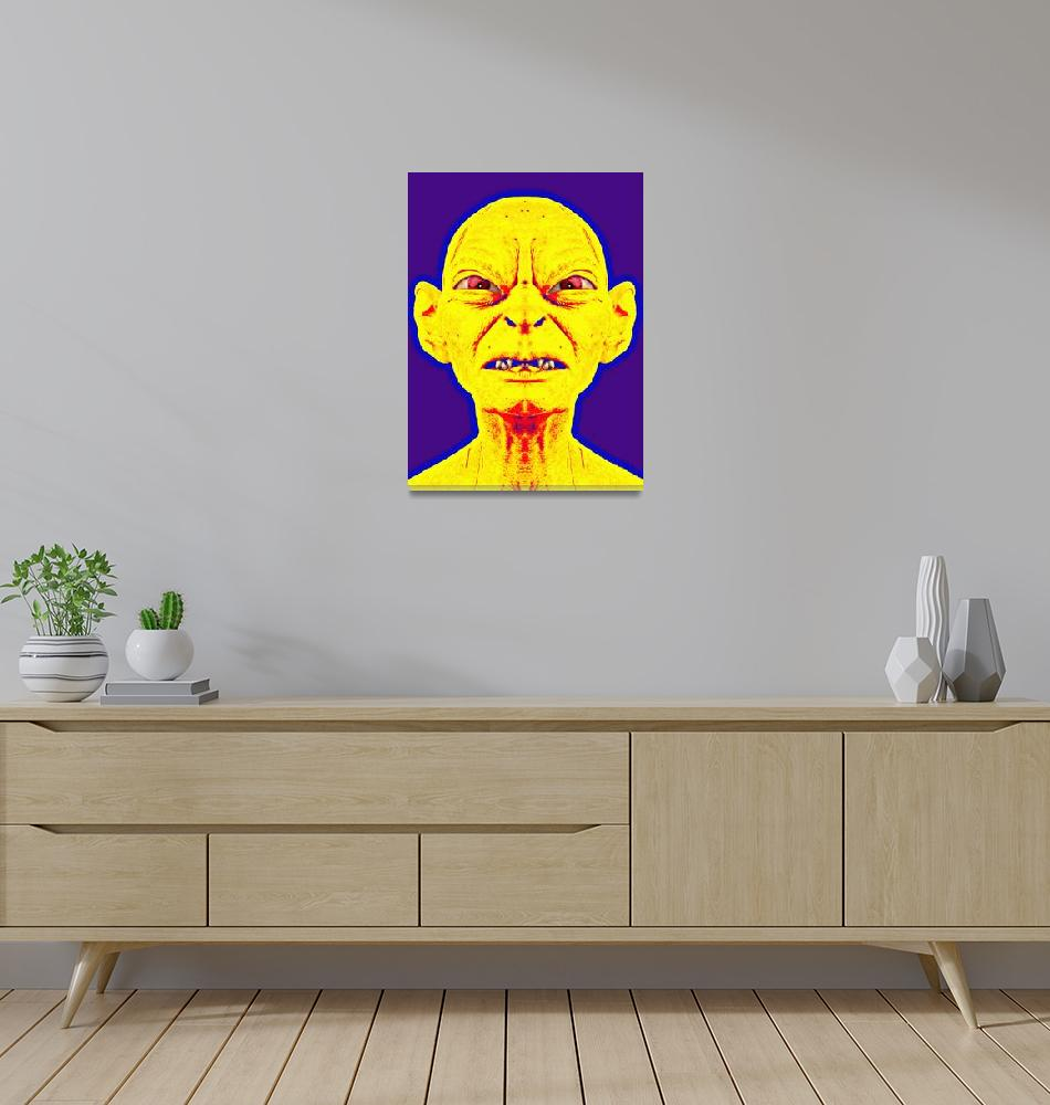 """""""Gollum, alias in The Lord of the Rings: Two Towers""""  (2013) by ArtCinemaGallery"""