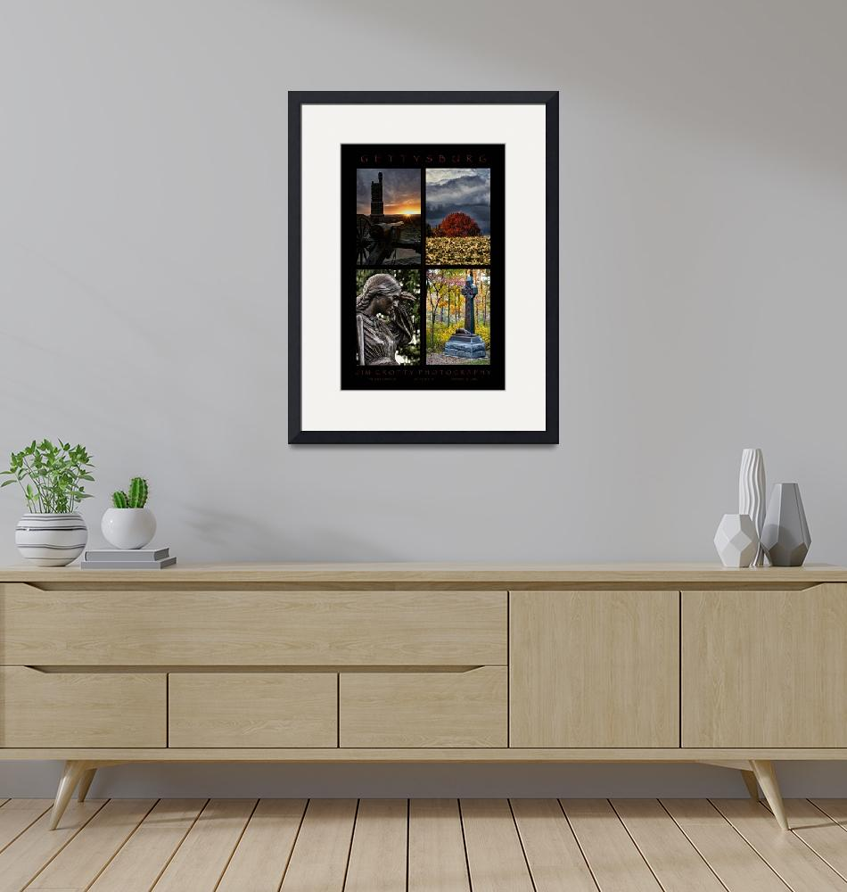 """""""Gettysburg Four Image Poster Print by Jim Crotty"""" (2009) by jimcrotty"""
